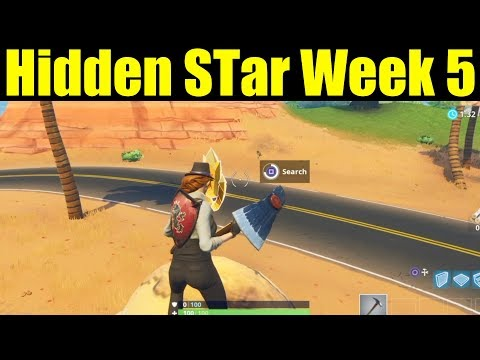 SECRET BATTLE STAR WEEK 4 LOCATION -  Fortnite Battle Royale (Road Trip Challenges)