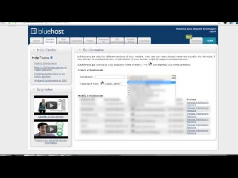 How To Install or Delete Subdomain from Bluehost Control Panel