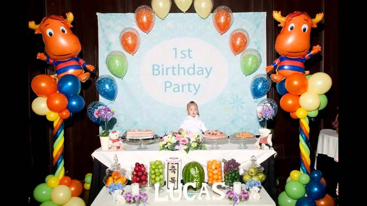 1st Birthday Decoration Ideas At Home For Boy Billingsblessingbagsorg