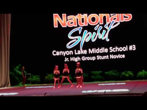 Canyon lake middle school stunt group #3