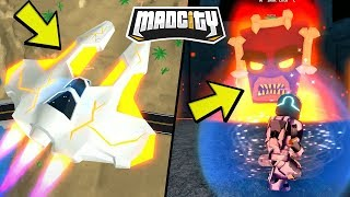 NEW INCOMING BOSS EVENT AND INCREDIBLE AIRCRAFT! Roblox Mad City / Roblox English