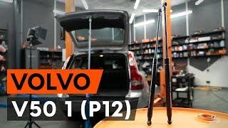 Hvordan udskiftes bagklapsdæmper / gasdæmper bagklap on VOLVO V50 1 (P12) [GUIDE AUTODOC]