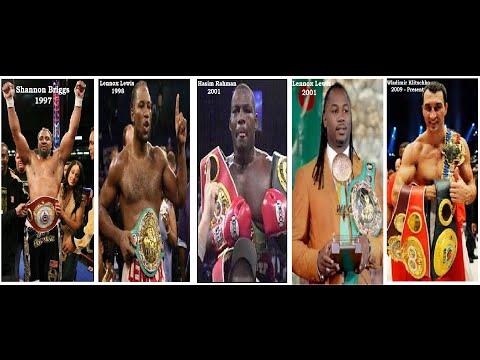 World's Heavyweight Champions 1719 - 2014  (Present)