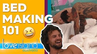 Exclusive: Adam feels superior because of Cartier's bedmaking skills | Love Island Australia 2019