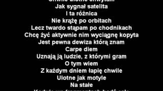 Paktofonika   Chwile Ulotne Tekst
