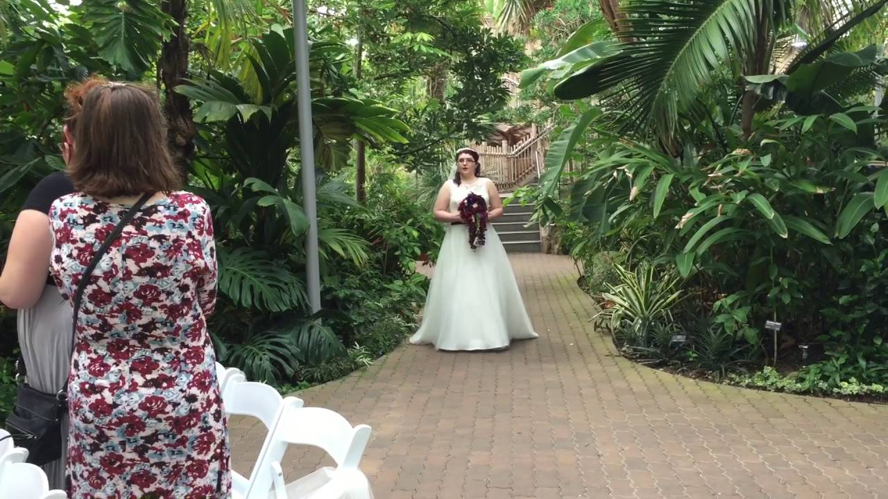 Myriad Botanical Gardens Wedding Ceremony For Kayleigh M Adamek Darryl Edward Killgore You