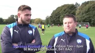 #WorldMentalHealthDay: Spireites Football for Life Team at first team Training