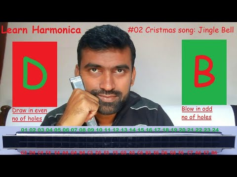 how to play harmonica step by step learning series #4 Christmas song JINGLE BELLS
