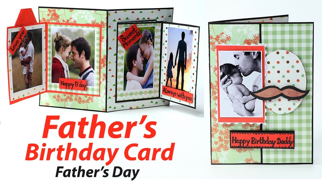 DIY Fathers Day Birthday Greeting Card Making
