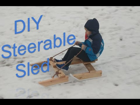 DIY Steerable Sled