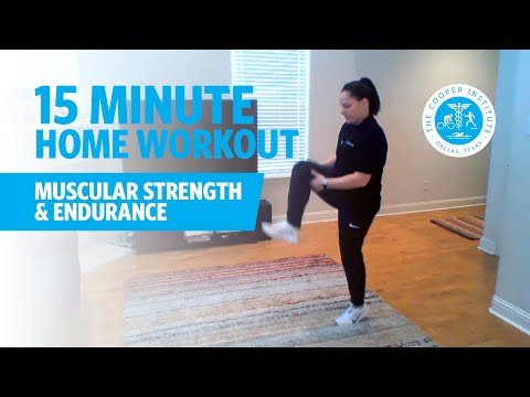 15-Minute Home Workout Muscular Strength & Endurance