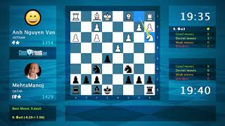 Chess Game Analysis: Anh Nguyen Van - MehtaManoj : 0-1 (By Game Online)