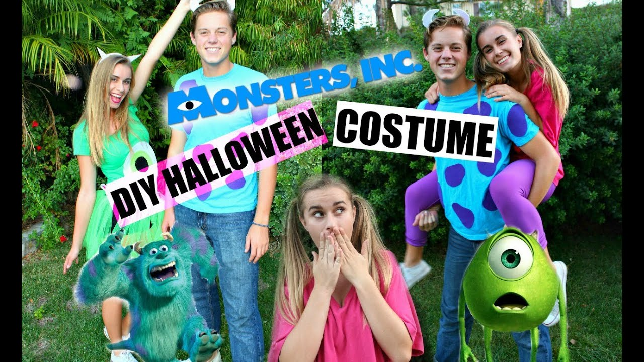 diy monsters, inc. inspired halloween costumes! - youtube
