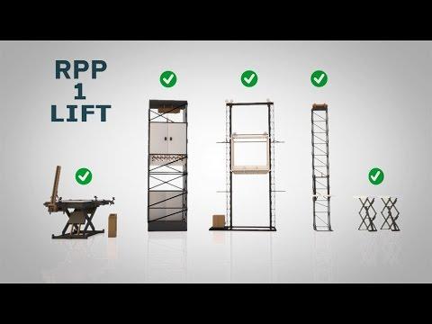 Гидравлические,  шахтные, мачтовые,  грузовые подъемники РПП№1