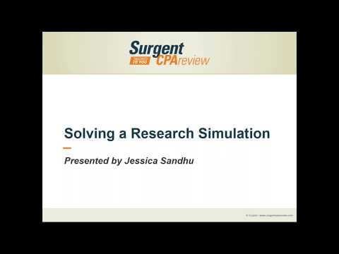 How to Solve Research Simulations on 2017 CPA Exam - Surgent CPA Review