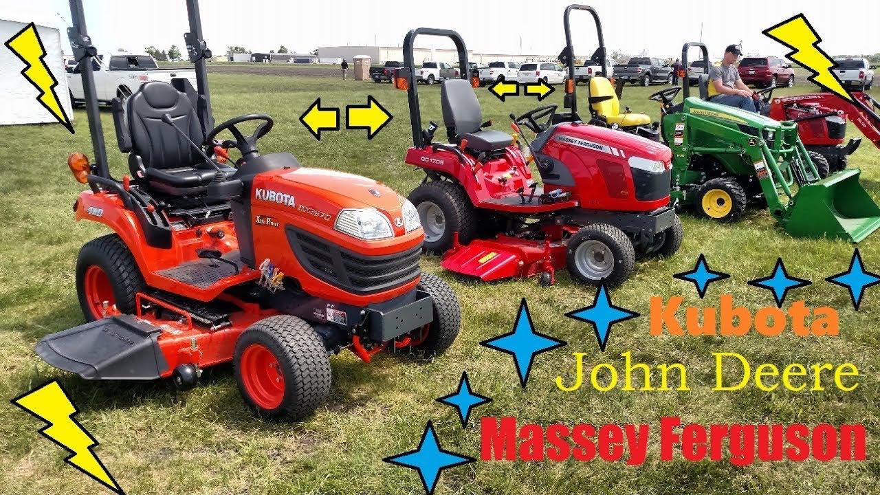 Best Compact Tractor 2019 Kubota, John Deere or Massey Ferguson   Sub Compact Tractors   YouTube