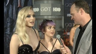 Sophie Turner & Maisie Williams dominate GAME OF THRONES interview