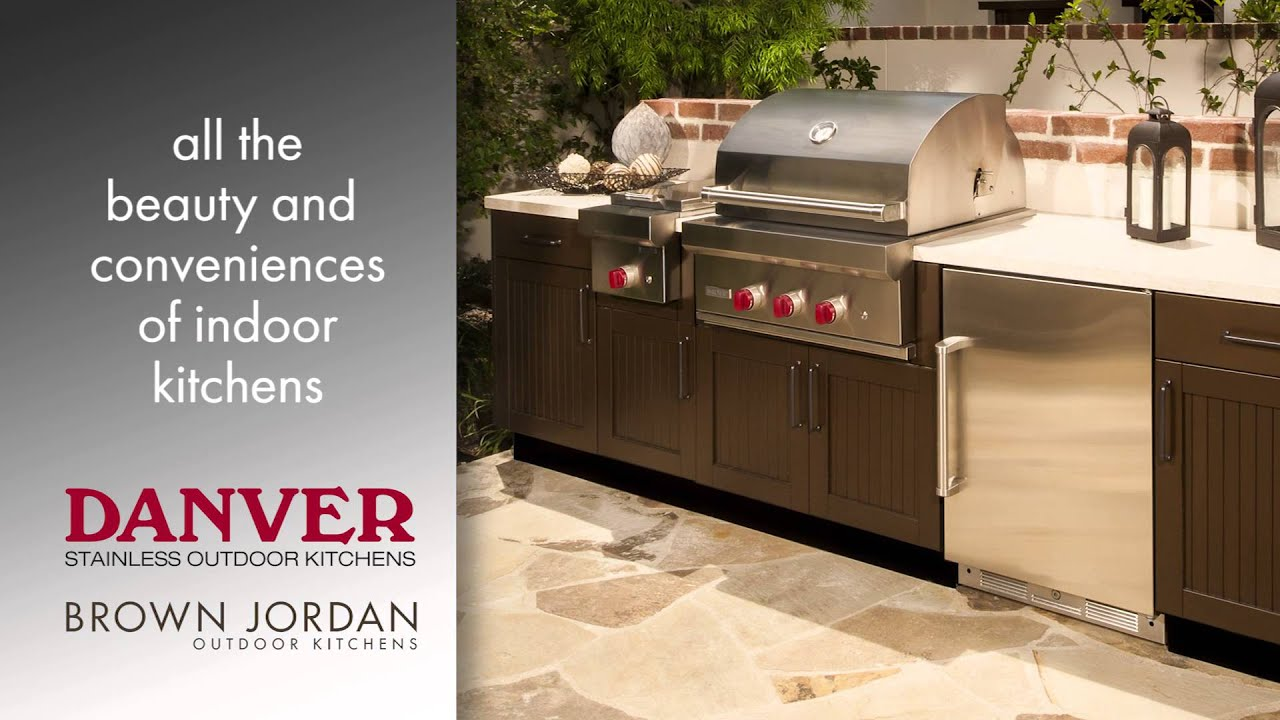danver outdoor kitchens cheap kitchen utensils stainless brown jordan youtube