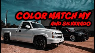 COLOR MATCH MY AWD SILVERADO! NEW TIRES ON THE GMC!