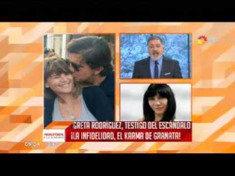 La famosa testigo de la infidelidad del novio de Amalia Granata