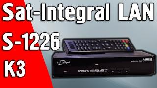Обзор Sat-Integral S-1226 HD K3 бюджетного ресивера с LAN портом