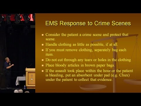 EMS Response To Crime Scenes