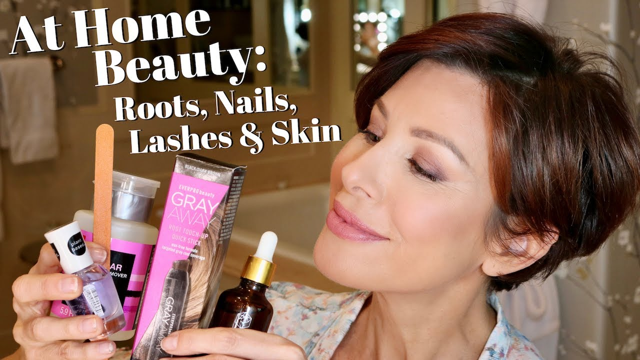 At Home Beauty Roots Nails Lashes And Skin Dominique Sachse Youtube