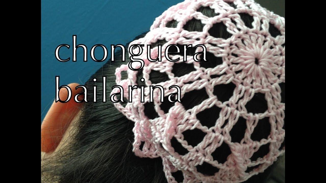 COMO TEJER #CHONGUERA #BAILARINA #MOÑITO #REDESILLA ganchillo ...