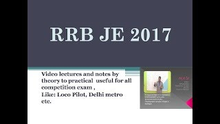 RRB JE 2017 2017 Video