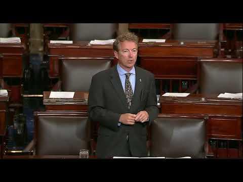 Part 1: Senator Rand Paul Speaks Out Against Runaway Spending - October 24, 2017
