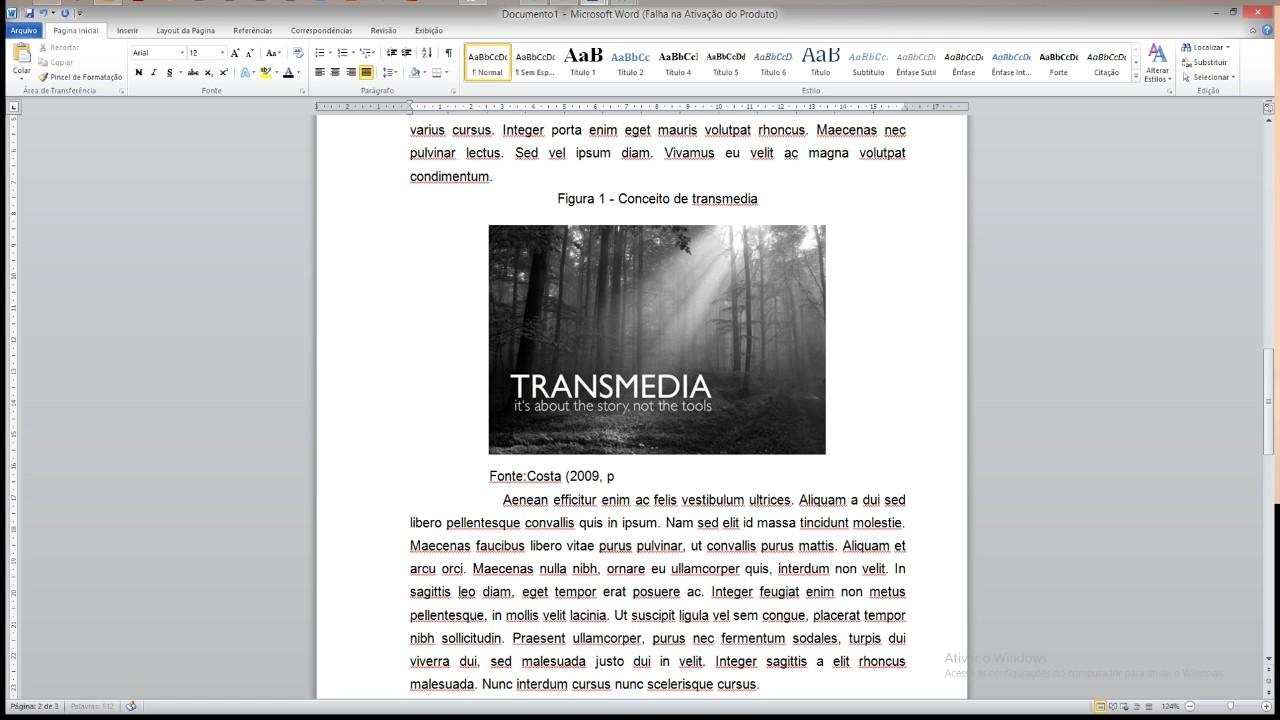 Exemplo de trabalho academico em slide