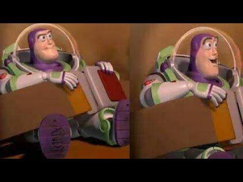 Buzz Sonriendo Con Cinturon En El Carro De Pizza Planeta Toy Story 1 Origen Del Meme