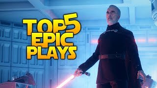 1000 IQ SABER PLAYS - Battlefront 2 Top 5 Plays