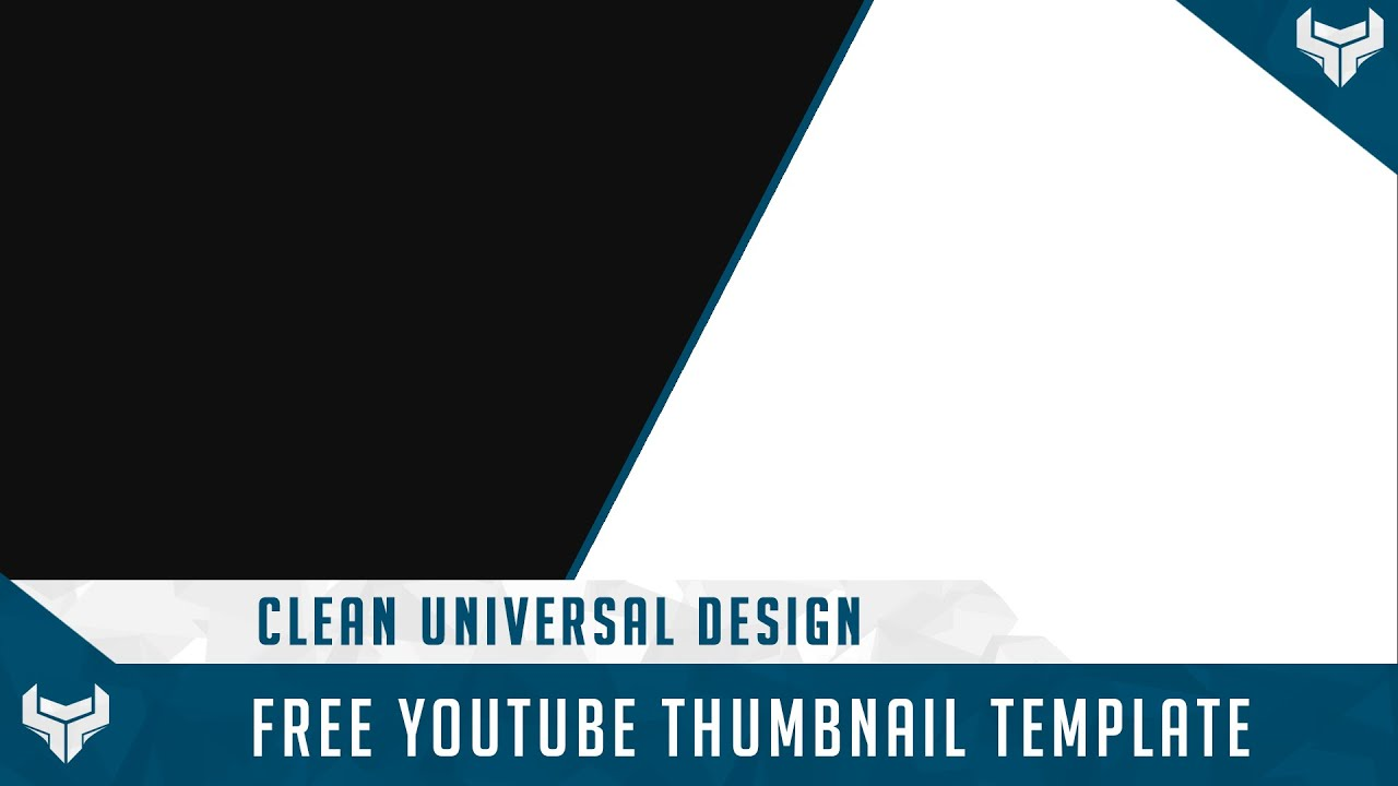 Free GFX: Free Youtube Thumbnail Template PSD Universal Design - YouTube