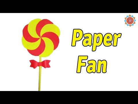 How to make paper fan using paper - Easy DIY Paper Fan Tutorial