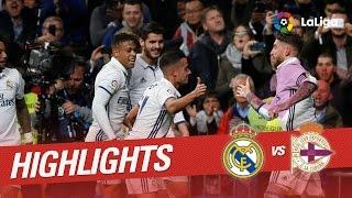Resumen de Real Madrid vs Deportivo de la Coruña (3-2)