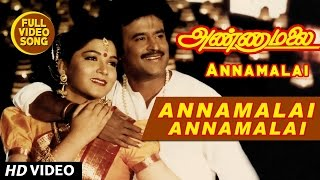 Annamalai Annamalai Lyrical Video Song   Annamalai   Rajinikanth, Kushboo   Tamil Song