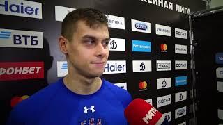 Голкипер сборной России Александр Самонов отразил 41 бросок в матче с Динамо Разговор после игры
