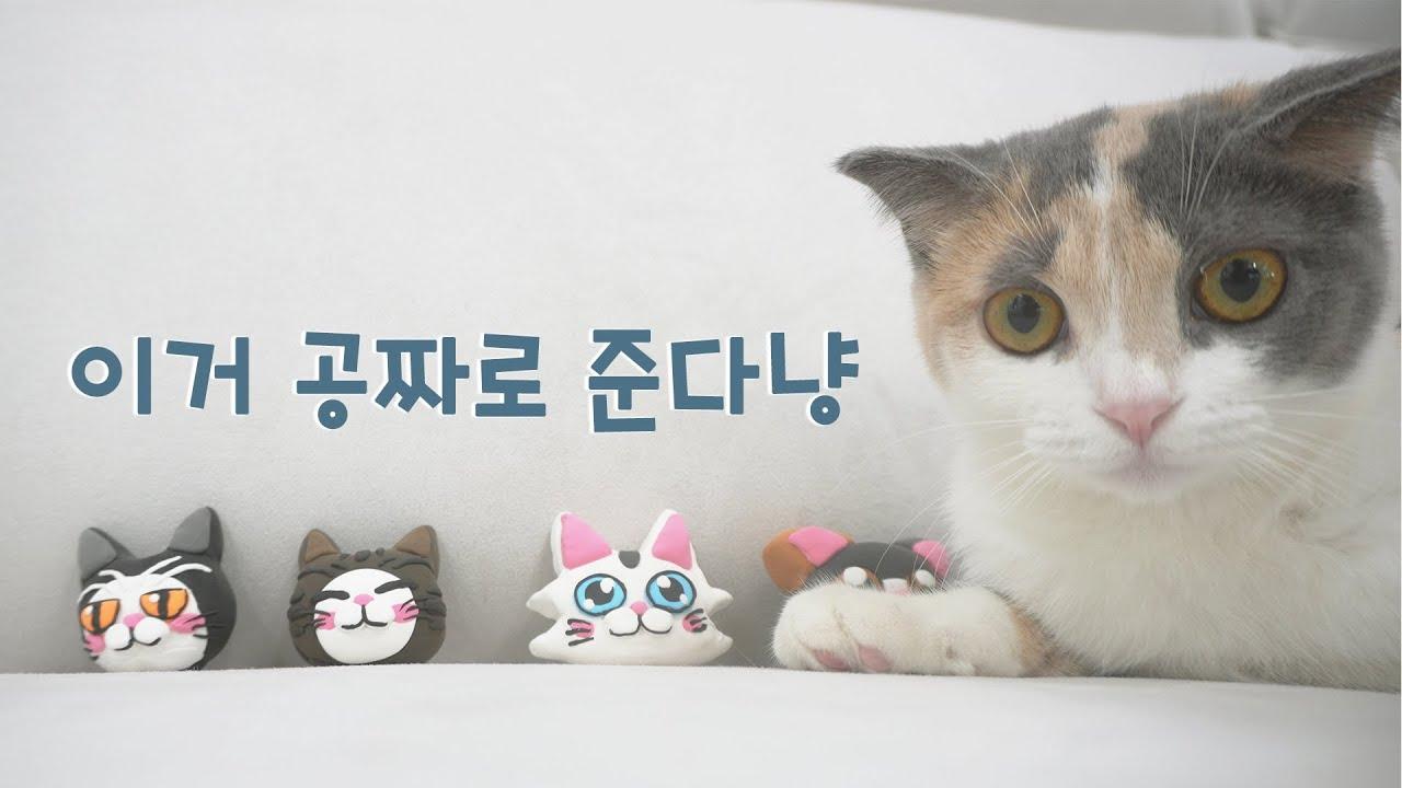아이클레이로 고양이 만들기! 댓글로 '고양이' 3행시 다시는 분께 선물로 드려요!