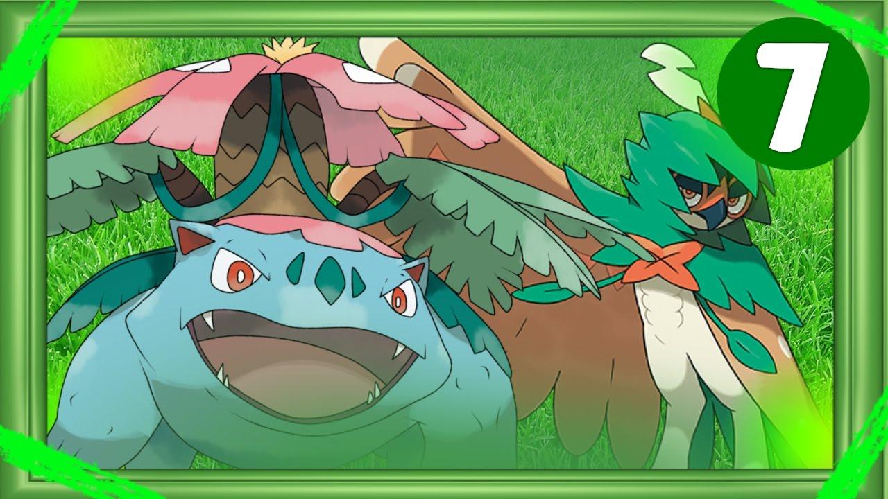 Top 7 Grass Type Pokemon Starters Youtube