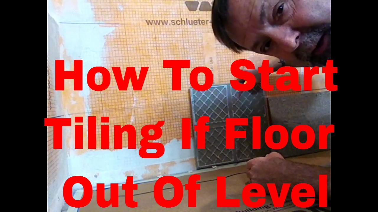 How To Start Tiling First Row Of Wall Tile If Floor Is Out
