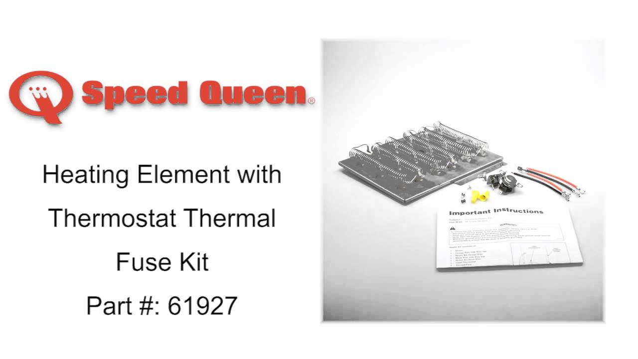 Speed Queen Heating Element With Thermostat Thermal Fuse Kit Part Wiring Schematic 61927