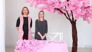 как сделать дерево сакура своими руками