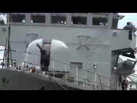 P42 (The Road Runner) Preparing To Go On Patrol - Irish Navy