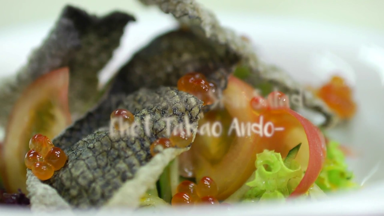 healthy bites crispy salmon skin salad youtube