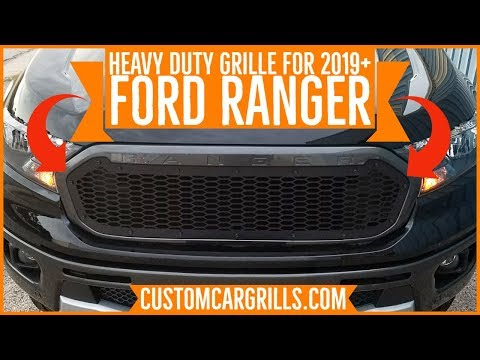 Heavy Duty Grille Installation for Ford Ranger 2019+ How-To by customcargrills.com