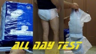 Tena classic plus adult diaper briefs all day test