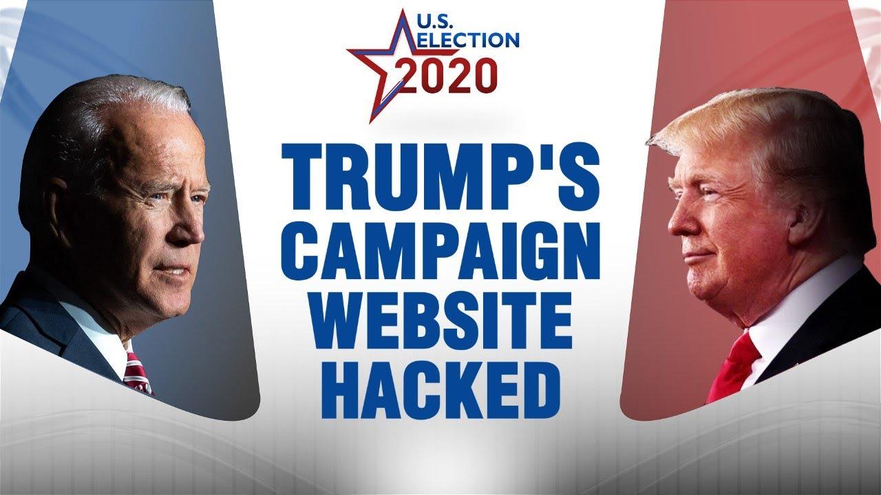 Trump campaign website broken into by hackers   US election 2020   US news