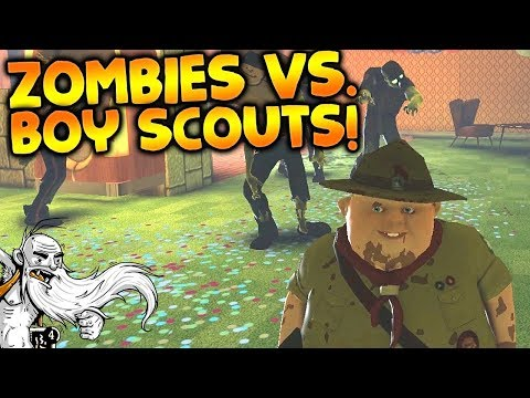 "Dead Block Gameplay - ""ZOMBIES VS BOY SCOUTS!!!""  - Story Mode Let's Play"