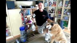 Dog Groom Attachment Demo for the Dyson Vacuum